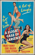"Movie Posters:Comedy, A Slight Case of Larceny (MGM, 1953). One Sheet (27"" X 41""). Comedy.. ..."