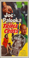 "Movie Posters:Sports, Joe Palooka in Triple Cross (Monogram, 1951). Three Sheet (41"" X 80""). Sports.. ..."