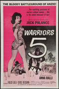 """Movie Posters:War, Warriors 5 & Other Lot (American International, 1962). OneSheets (2) (27"""" X 41""""). War.. ... (Total: 2 Items)"""