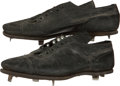 Baseball Collectibles:Others, Circa 1957 Wes Covington Game Worn Cleats With FamilyProvenance....