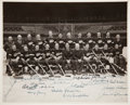 Hockey Collectibles:Photos, 1936-37 Detroit Red Wings Team Signed Photograph - Stanley CupChampionship Season!...