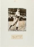 Autographs:Others, Circa 1950 Cy Young Signed Cut Signature....
