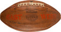 Football Collectibles:Balls, 1935 East vs. West Shrine Game Presentation Football Signed by Gerald Ford and Robert Zuppke. ...
