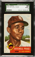 Baseball Cards:Singles (1950-1959), 1953 Topps Satchell Paige #220 SGC 88 NM/MT 8 - Only ThreeHigher....