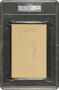 Autographs:Others, Circa 1936 Lou Gehrig & Joe DiMaggio Signed Album Page, PSA/DNAMint 9....