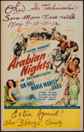 "Movie Posters:Adventure, Arabian Nights (Universal, 1942). Window Card (14"" X 22"").Adventure.. ..."