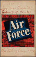 "Movie Posters:War, Air Force (Warner Brothers, 1943). Window Card (14"" X 22""). War....."