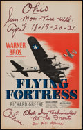 """Movie Posters:War, Flying Fortress (Warner Brothers, 1942). Window Card (14"""" X 22""""). War.. ..."""