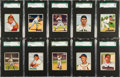 Baseball Cards:Lots, 1950 Bowman Baseball SGC Graded Collection (59). ...