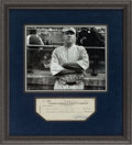 Autographs:Checks, 1938 Babe Ruth Signed Check, PSA/DNA NM-MT 8....