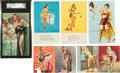 Non-Sport Cards:Sets, 1950's Exhibits Pin Up Collection (50 Different). ...