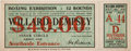 Boxing Collectibles:Memorabilia, 1919 Willard vs. Dempsey Full Ticket....