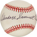 Autographs:Baseballs, Circa 1990 Theodore Samuel Williams Single Signed Baseball....