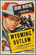 "Movie Posters:Western, Wyoming Outlaw (Republic, R-1953). Stock One Sheet (27"" X 41""). Western.. ..."