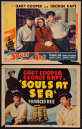 "Movie Posters:Adventure, Souls at Sea (Paramount, 1937). Other Company Title Lobby Card& Lobby Card (11"" X 14""). Adventure.. ... (Total: 2 Items)"