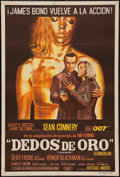 "Movie Posters:James Bond, Goldfinger (United Artists, 1964). Argentinean Poster (29"" X43.5""). James Bond.. ..."