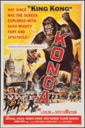 "Movie Posters:Science Fiction, Konga (American International, 1961). One Sheet (27"" X 41"").Science Fiction.. ..."