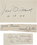 Boxing Collectibles:Autographs, Jess Willard, Al Smith and Marlin Julian Signed Boxing Parchment....