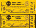Basketball Collectibles:Others, 1982 NCAA Semi-Finals and Championship Full Tickets - MichaelJordan Game Winning Shot. ...