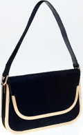 Luxury Accessories:Bags, Heritage Vintage: Gucci Navy Ponyhair 1970's Shoulder Bag with GoldHardware. ...
