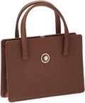 Luxury Accessories:Bags, Heritage Vintage: Versace Brown Satin Small Evening Tote. ...