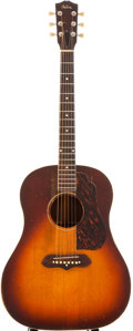 Musical Instruments:Acoustic Guitars, Early 1940s Gibson J-55 Sunburst Acoustic Guitar....
