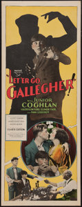 "Movie Posters:Crime, Let 'Er Go Gallegher (Pathé, 1928). Insert (14"" X 36""). Crime.. ..."