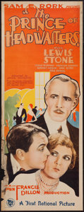 """Movie Posters:Drama, The Prince of Headwaiters (First National, 1927). Insert (14"""" X 36""""). Drama.. ..."""