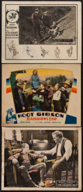 "Movie Posters:Western, Hoot Gibson Lot (Universal, 1920s-1930s). Lobby Cards (3) (11"" X14""). Western.. ... (Total: 3 Items)"