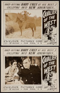 "Movie Posters:Western, Cavalier of the West (Excelsior, 1931). Lobby Cards (2) (11"" X 14""). Western.. ... (Total: 2 Items)"