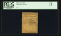 Colonial Notes:Continental Congress Issues, Continental Currency February 17, 1776 $1/2 PCGS Fine 12.. ...
