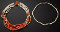 Estate Jewelry:Other , Coral Bead & Pearl Necklaces. ...