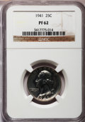 Proof Washington Quarters: , 1941 25C PR62 NGC. NGC Census: (24/1614). PCGS Population(63/2426). Mintage: 15,287. Numismedia Wsl. Price for problemfre...