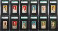 Baseball Cards:Sets, 1910 E104-1 & E104-2 Nadja Caramels SGC-Graded Collection (15)With Plank & HoFers. ...
