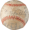 Autographs:Baseballs, Circa 1935 Babe Ruth & Lou Gehrig Signed Baseball with St.Louis Cardinals....