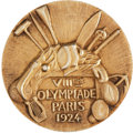 Miscellaneous Collectibles:General, 1924 Paris Summer Olympics Gold Medal Awarded to Member of Uruguayan Football/Soccer Team....