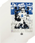 """Football Collectibles:Others, 1993 Troy Aikman Signed """"Super Bowl XXVII"""" Lithographs Lot of 38...."""