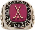 Hockey Collectibles:Others, 1978-79 Dallas Black Hawks Adams Cup Championship Ring....