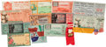 Football Collectibles:Tickets, 1931-54 College Football Bowls Game Tickets Lot of 12....