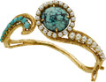 Estate Jewelry:Bracelets, Turquoise, Cultured Pearl, Gold Bracelet. ...