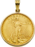 Estate Jewelry:Pendants and Lockets, US $20 Gold Liberty Coin, Gold Pendant. ...