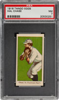 Baseball Cards:Singles (Pre-1930), 1916 Tango Eggs Hal Chase PSA NM 7....