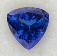 Unmounted Tanzanite Trillion Gemstone
