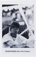 Baseball Collectibles:Photos, Circa 1980 Roger Maris Signed Photograph....