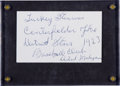 """Autographs:Index Cards, 1970's Norman """"Turkey"""" Stearnes Signed Index Card...."""