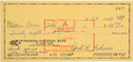 Autographs:Others, 1960 Jackie Robinson Signed Check & 1952 Branch RickeyAutograph....