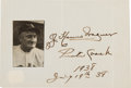 Autographs:Others, 1938 Honus Wagner Signed Album Page....