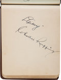Autographs:Others, 1937 Baseball Autograph Book with Gehrig, Klein, More....