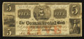 Obsoletes By State:Rhode Island, Bristol, RI- Commercial Bank Altered $5 Oct. 1, 1846. ...