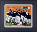 Baseball Collectibles:Photos, 1999 New York Yankees Team Signed Oversized Photograph....